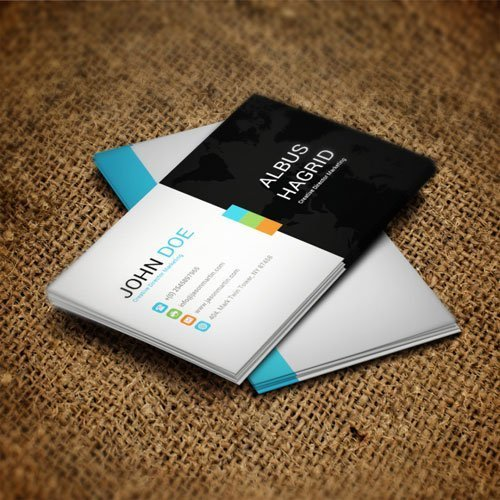 Black-white - business card