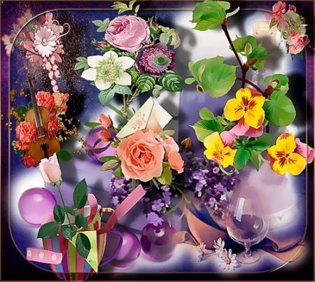 Клипарты / Cliparts - Нежность цветов