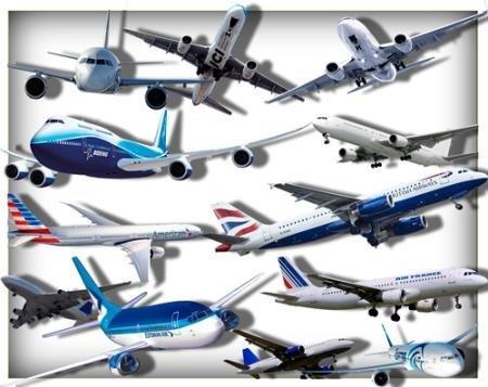 Клипарты для фотошопа - Пассажирские самолеты